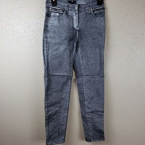 H&M silver skinny jeans size 2